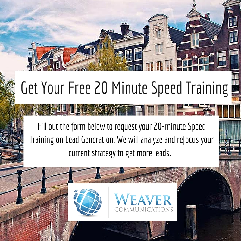 weaver communications 20 minute speed training