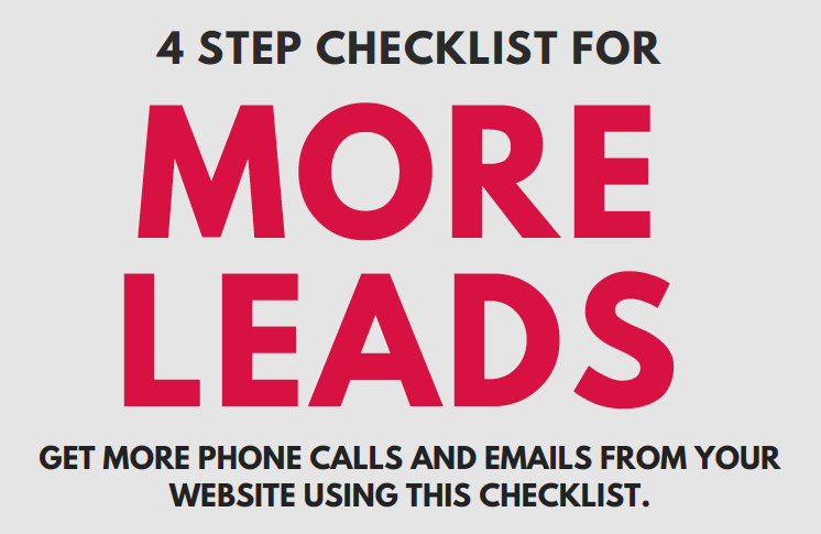 4 step checklist to get more leads from a small business website