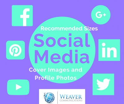 social media cover images and profile photos size recommendations