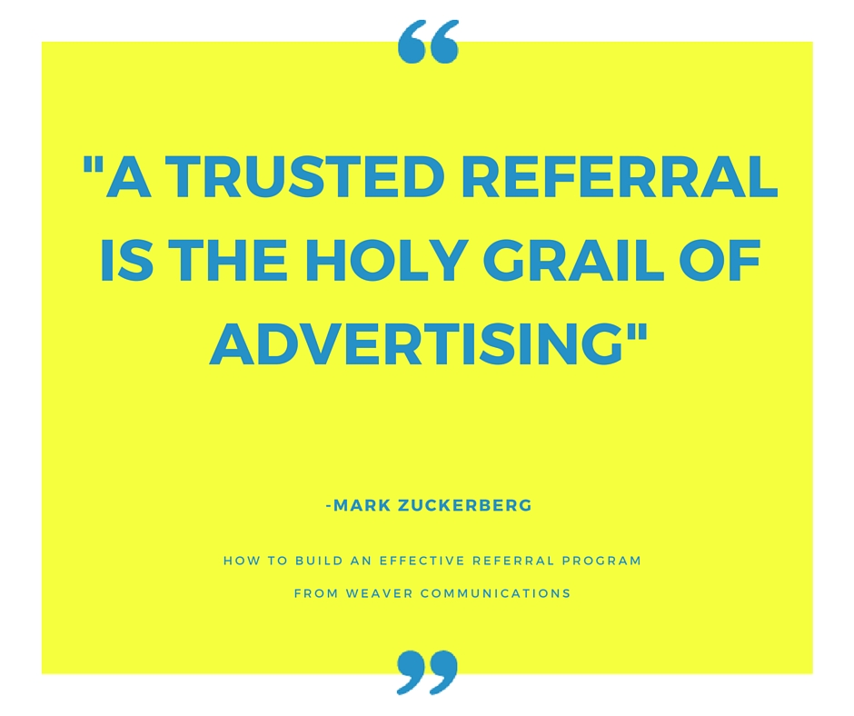 How to Build Effective Referral Program from Weaver Communications