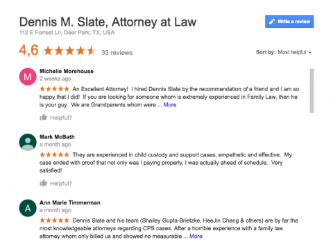 attorney deer park tx google reviews social media marketing agency