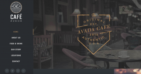 web design cafe template