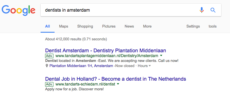 google changes the appearance of search ads