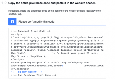 what a facebook pixel looks like